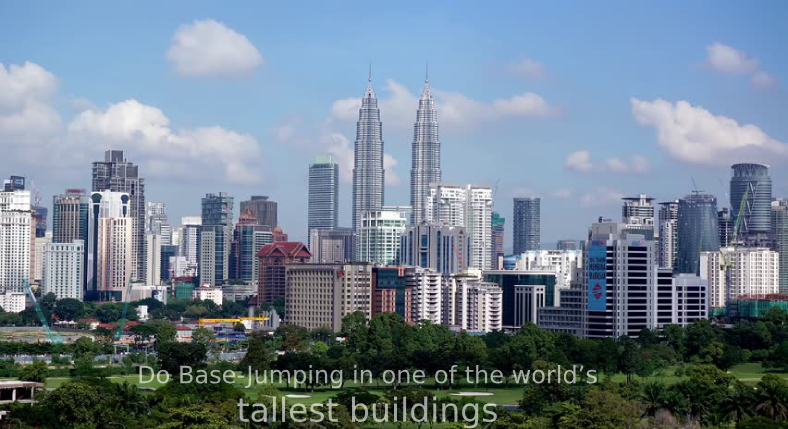 Do Base-Jumping in one of the world's tallest buildings