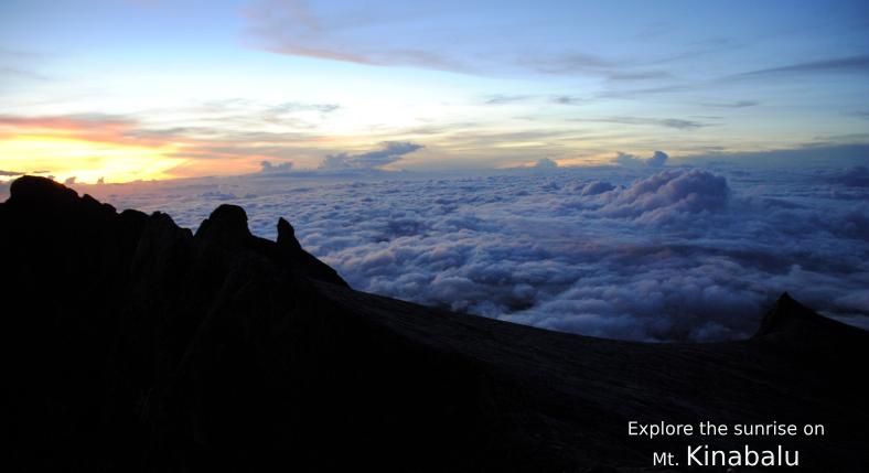 Explore the sunrise on Mt. Kinabalu